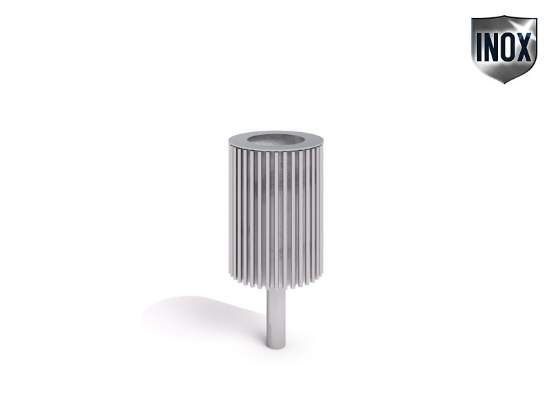stainless steel trash bin 05 Inter Play Playground