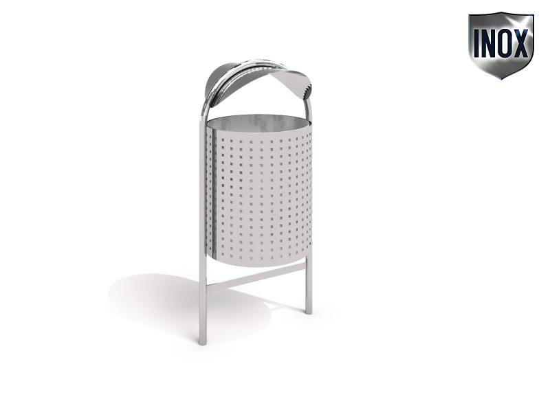 Playground Equipment for sale stainless steel trash bin 05 Professional manufacturer