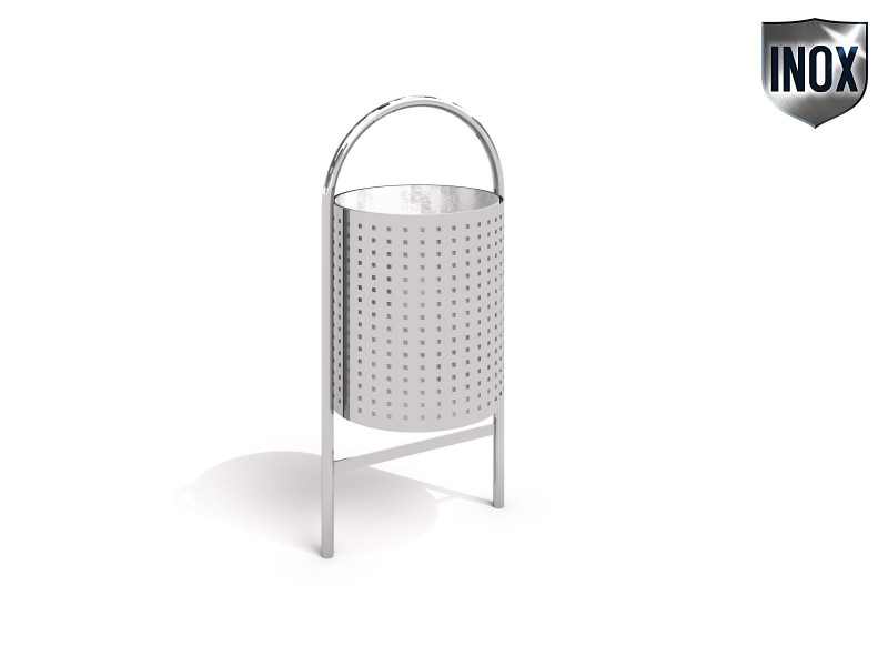 Playground Equipment for sale stainless steel trash bin 06 Professional manufacturer