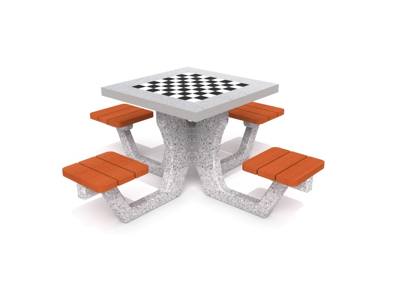 Inter-Play - Concrete table for chess - checkers 01