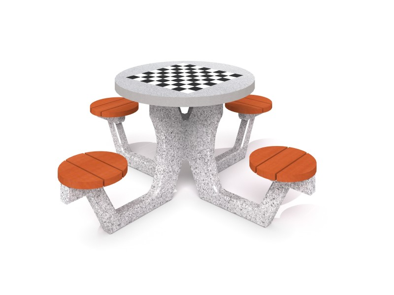 Inter-Play - Concrete table for chess - checkers 03