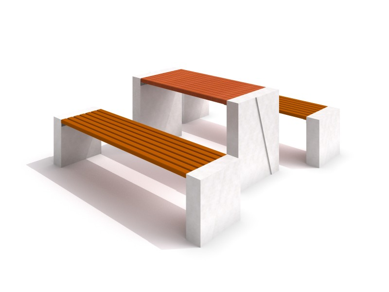 DECO white concrete table 02 Inter Play Playground
