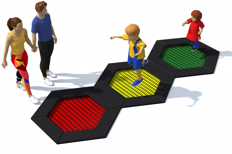 Playground Equipment for sale Trampoline Hexo 4A Professional manufacturer