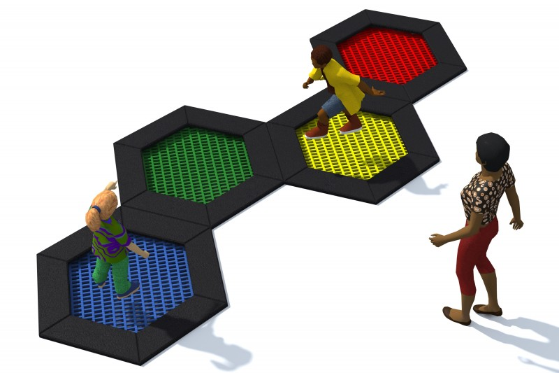 Playground Equipment for sale Trampoline Hexo 6A Professional manufacturer