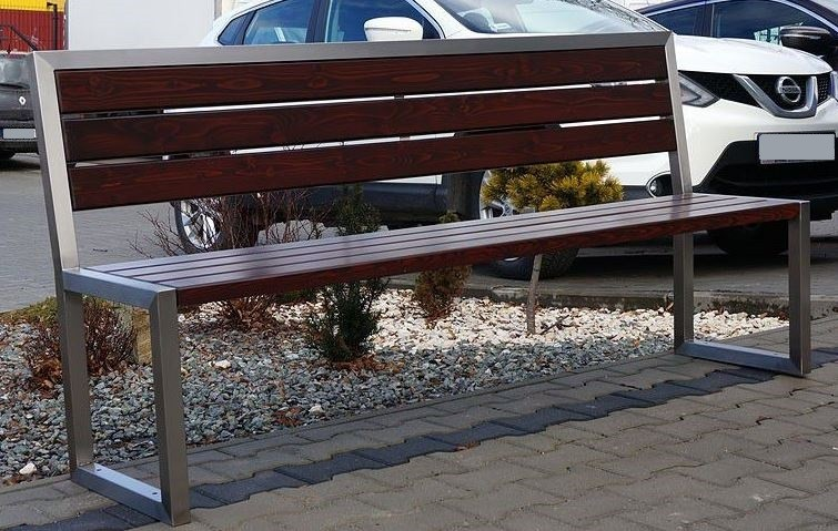 Stainless steel bench 04 Inter Play Playground