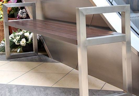 Stainless steel bench 05 Inter Play Playground