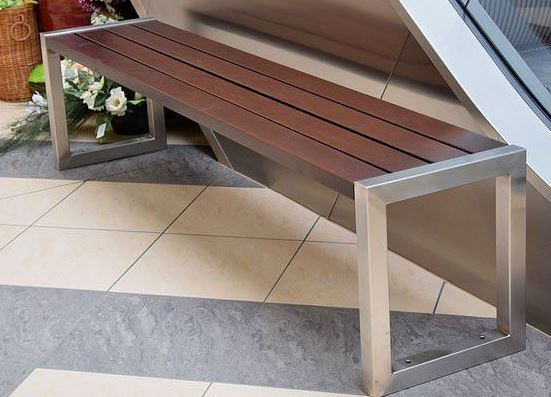 Stainless steel bench 06 Inter Play Playground