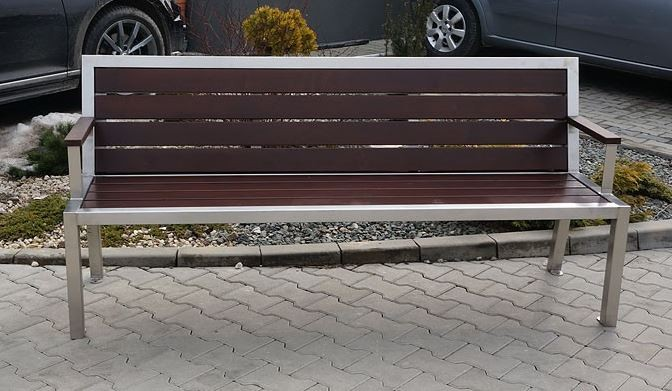 Stainless steel bench 08 Inter Play Playground