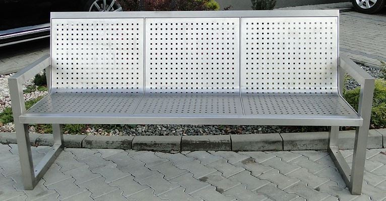 Stainless steel bench 11 Inter Play Playground