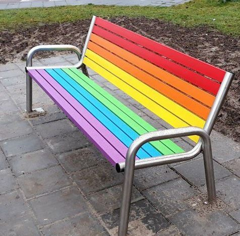 Stainless steel bench 13 Inter Play Playground