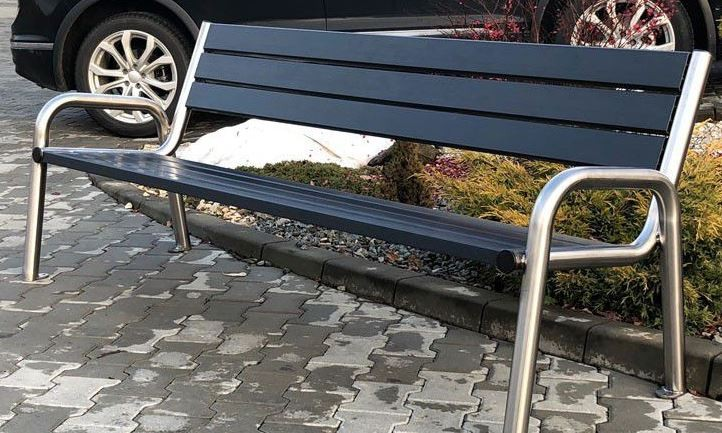 Stainless steel bench 14 Inter Play Playground