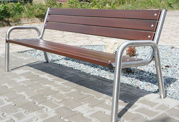 Stainless steel bench 15 Inter Play Playground