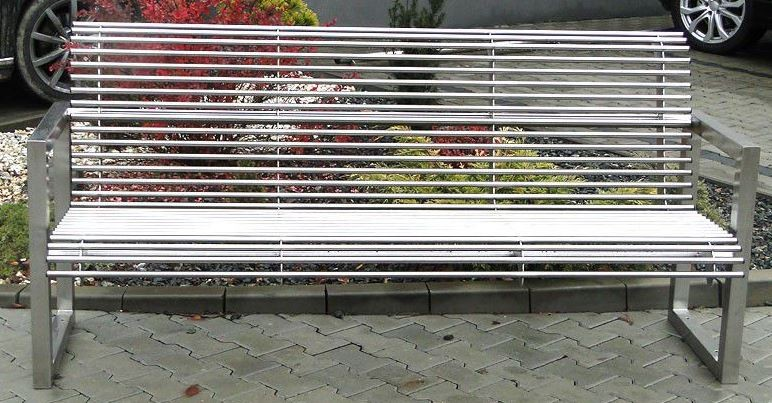 Stainless steel bench 18 Inter Play Playground
