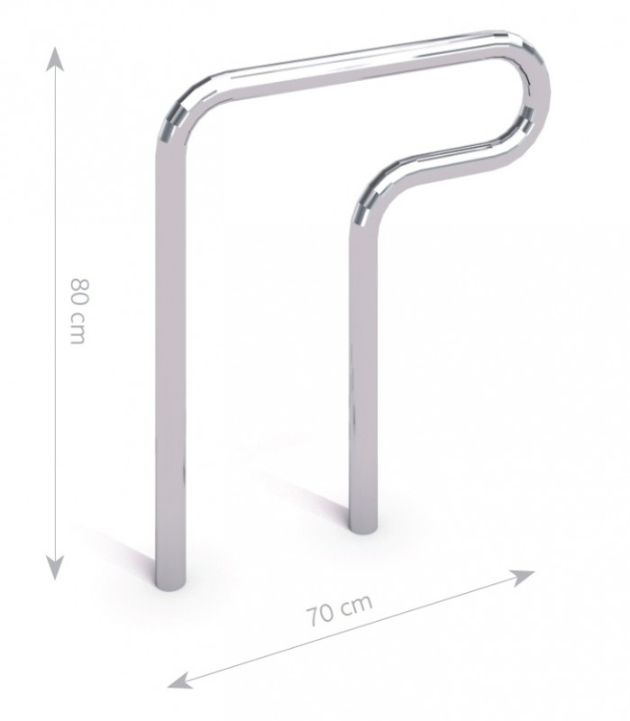stainless steel bicycle rack 02 Inter Play Playground
