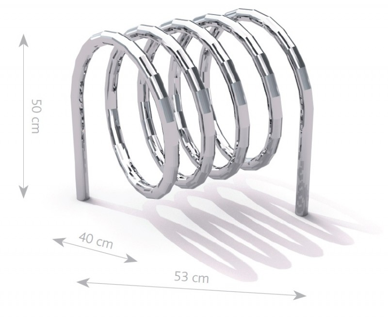 stainless steel bicycle rack 10 Inter Play Playground