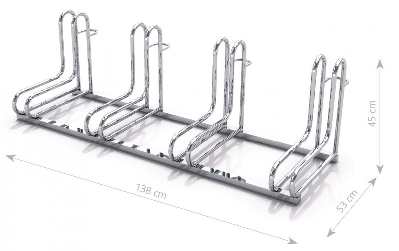 stainless steel bicycle rack 19 Inter Play Playground